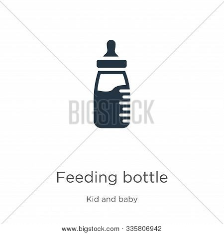 Feeding Bottle Icon Vector. Trendy Flat Feeding Bottle Icon From Kid And Baby Collection Isolated On