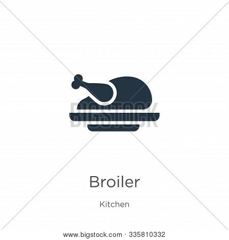 Broiler Icon Vector. Trendy Flat Broiler Icon From Kitchen Collection Isolated On White Background.