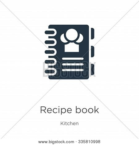 Recipe Book Icon Vector. Trendy Flat Recipe Book Icon From Kitchen Collection Isolated On White Back