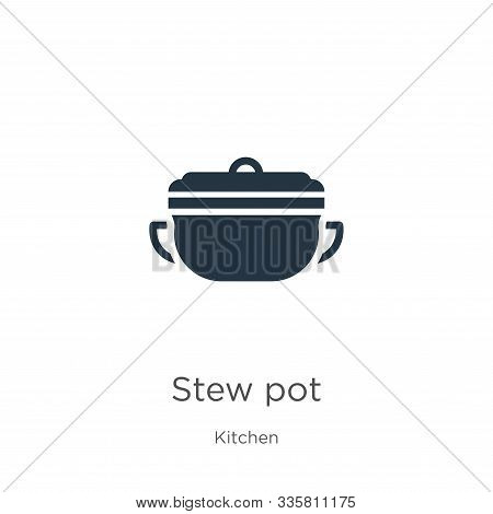 Stew Pot Icon Vector. Trendy Flat Stew Pot Icon From Kitchen Collection Isolated On White Background