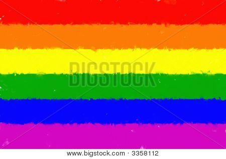 Painted Illustration Rainbow Gay Pride Flag