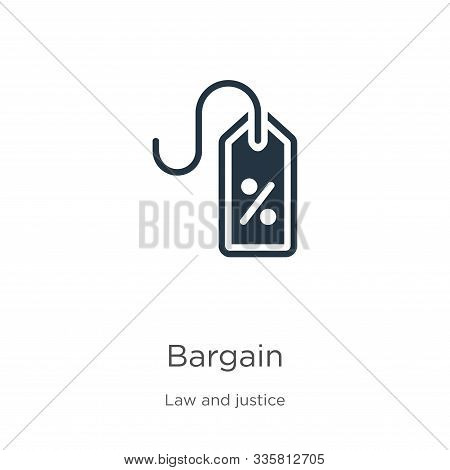 Bargain Icon Vector. Trendy Flat Bargain Icon From Law And Justice Collection Isolated On White Back