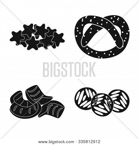 Isolated Object Of Party And Cooking Symbol. Collection Of Party And Crunchy Stock Symbol For Web.