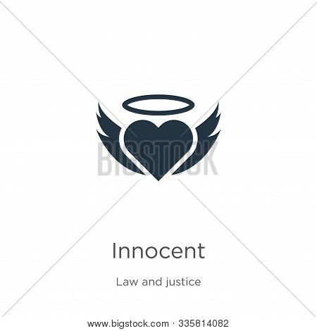 Innocent Icon Vector. Trendy Flat Innocent Icon From Law And Justice Collection Isolated On White Ba