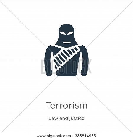 Terrorism Icon Vector. Trendy Flat Terrorism Icon From Law And Justice Collection Isolated On White