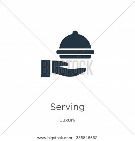 Serving Icon Vector. Trendy Flat Serving Icon From Luxury Collection Isolated On White Background. V
