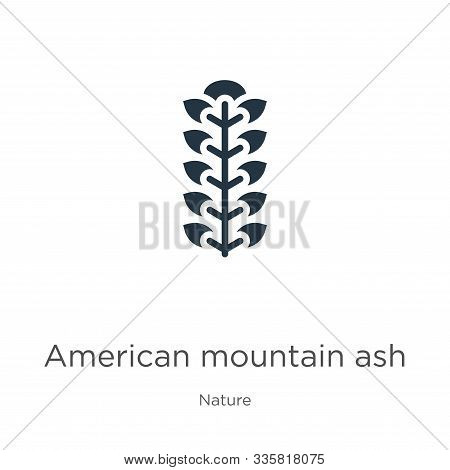 American Mountain Ash Icon Vector. Trendy Flat American Mountain Ash Icon From Nature Collection Iso
