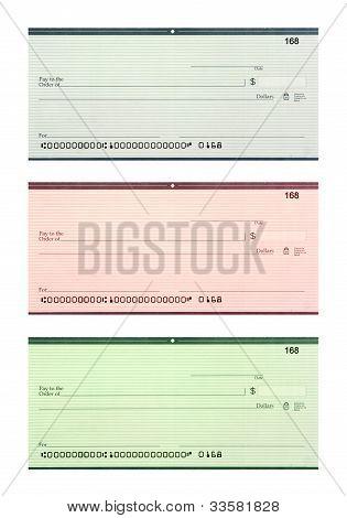 Set Of Three Blank Checks