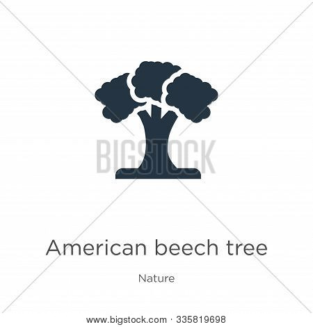 American Beech Tree Icon Vector. Trendy Flat American Beech Tree Icon From Nature Collection Isolate