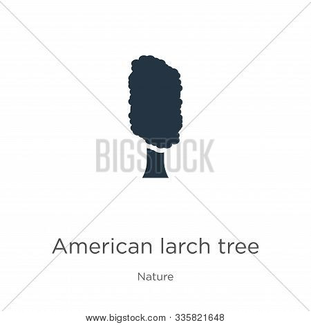American Larch Tree Icon Vector. Trendy Flat American Larch Tree Icon From Nature Collection Isolate
