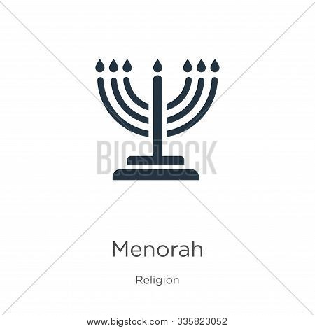 Menorah Icon Vector. Trendy Flat Menorah Icon From Religion Collection Isolated On White Background.
