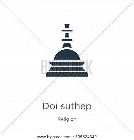 Doi Suthep Icon Vector. Trendy Flat Doi Suthep Icon From Religion Collection Isolated On White Backg