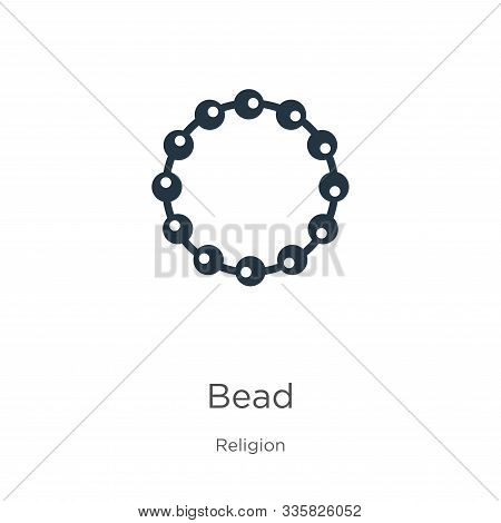 Bead Icon Vector. Trendy Flat Bead Icon From Religion Collection Isolated On White Background. Vecto