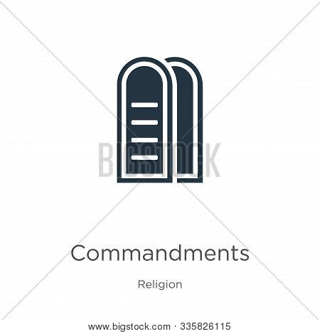 Commandments Icon Vector. Trendy Flat Commandments Icon From Religion Collection Isolated On White B