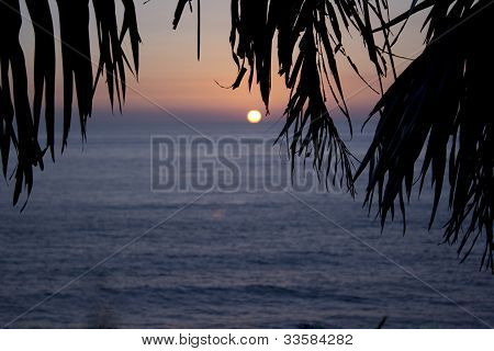 sunset in Mexico