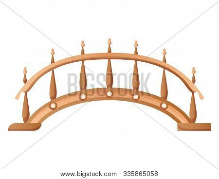 Bridge Vector Urban Crossover Architecture. Bridge-construction For Transportation Illustration. Bri