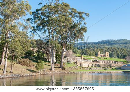 Port Arthur, Australia - July 19, 2014: Ruins Of The Penitentiary Of Historic Fortress In Port Arthu