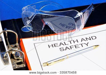 Health And Safety-labor Protection. Documents In The Folder-professional Well-being And Safety At Wo
