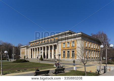 Pernik, Bulgaria - March 12, 2014: Cultural Center And Drama Theatre Boyan Danovski In Town Of Perni