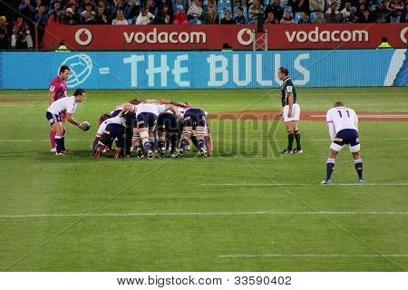 Rugby Duvenhage Feeds Scrum Stormers South Africa 2012
