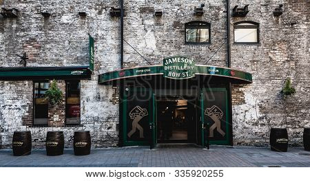 Architectural Detail Of The Old Irish Whiskey Distillery Of The Commercial Brand Jameson