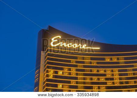 Boston, Usa - Nov 25, 2019: Encore Boston Harbor At Night In Blue Hour In City Of Everett, Boston, M