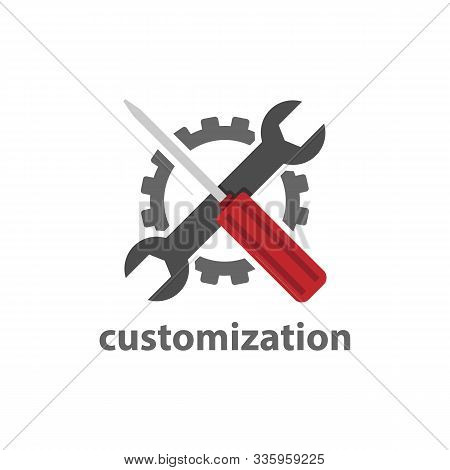 Customization Web Element Icon Vector Design Image. Flat Design Vector Website Custom Page Icon Elem