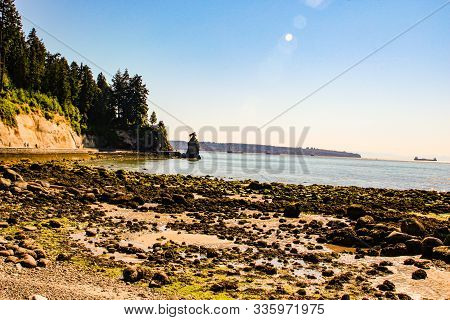 Third Beach - Vancouver, Canada. Third Beach Along Stanley Park In Vancouver, Canada. View Of The No