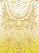 Gold Plated Science Fiction Style Fractal Design Illustration Pattern poster