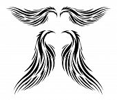 tattoo tribal vector wings for all types of designs, vectors can be resized to fit anything. poster