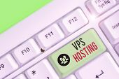 Text sign showing Vps Hosting. Conceptual photo mimics a dedicated server within a shared hosting environment. poster
