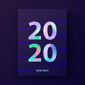 New Year Card 2020. Greetings And Invitations Cards