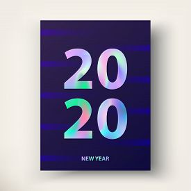 New Year Card 2020. Greetings And Invitations Cards.