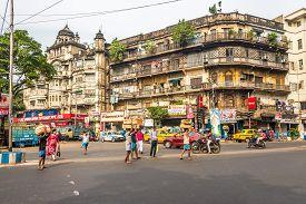 Kolkata,india - November 7,2019 - In The Streets Of Kolkata. Koklata Is The Capital Of The Indian St