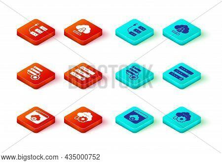 Set Failed Access Cloud Storage, Cloud Technology Data Transfer, Server And Gear, Server, Data, Web