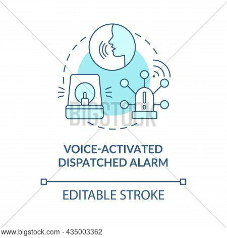 Voice Activated Dispatched Alarm Blue Concept Icon. Alarm System Abstract Idea Thin Line Illustratio