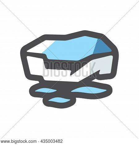 Ice Floe On Water Vector Icon Cartoon Illustration