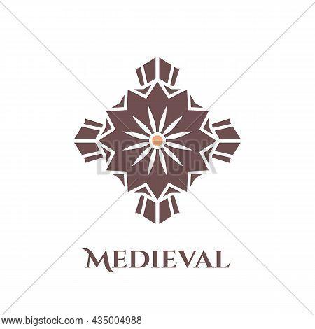 Bastion Medieval Logo. Simple Illustration Of Bastion Medieval Vector Logo For Web