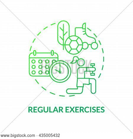 Regular Exercises Concept Icon. Hypertension Prevention Tip Abstract Idea Thin Line Illustration. Ma