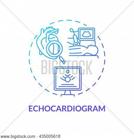 Echocardiogram Concept Icon. Hypertension Test Abstract Idea Thin Line Illustration. Ultrasound Scan