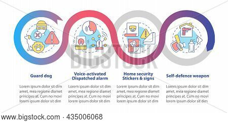 Burglary Prevention Vector Infographic Template. Property Security Presentation Outline Design Eleme