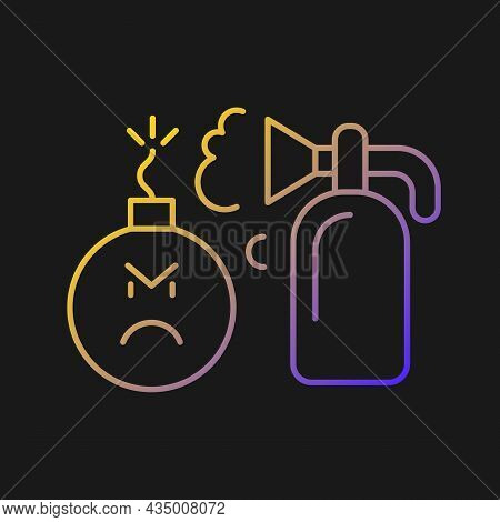Extinguishing Emotions Vector Icon For Dark Theme. Suppressing Feelings And Emotions That You Experi