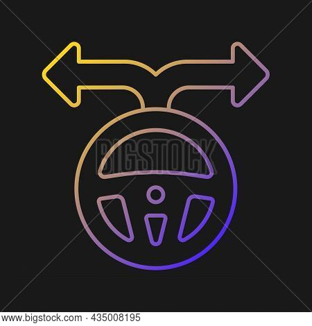 Flexibility To Alternatives Vector Icon For Dark Theme. Fast Adaptation Skill. Mobility And Adaptabi