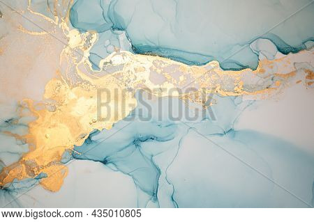 Color Abstract Background Liquid. Alcohol Ink Splash. Luxury Flow Mix. Fluid Marble Paint. Abstract