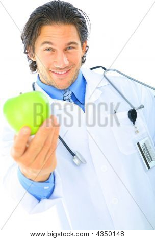 Doctor Offering Healthy Food