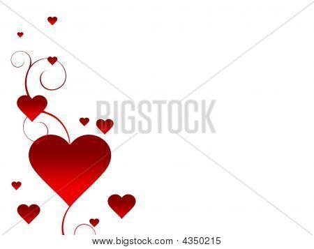 White Valentine's Background