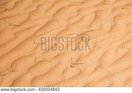 Ripple Sand Dunes Texture Background. Desert, Sandy Waves.