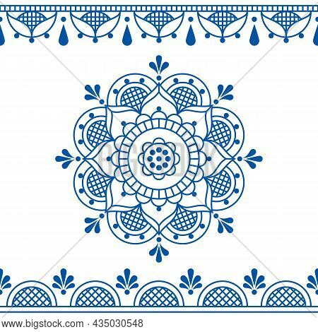 Floral Line Art Vector Design Inspired By The Traditional Lace And Embroidery Patterns, Retro Weddin