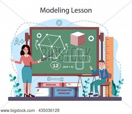 Crafting And Modeling School Course. Teacher Educate Students
