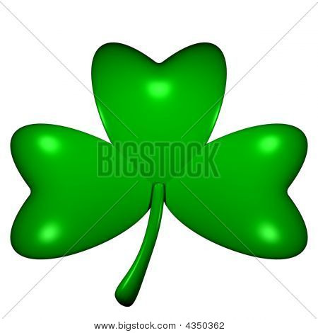 3D-Rendered Shamrock